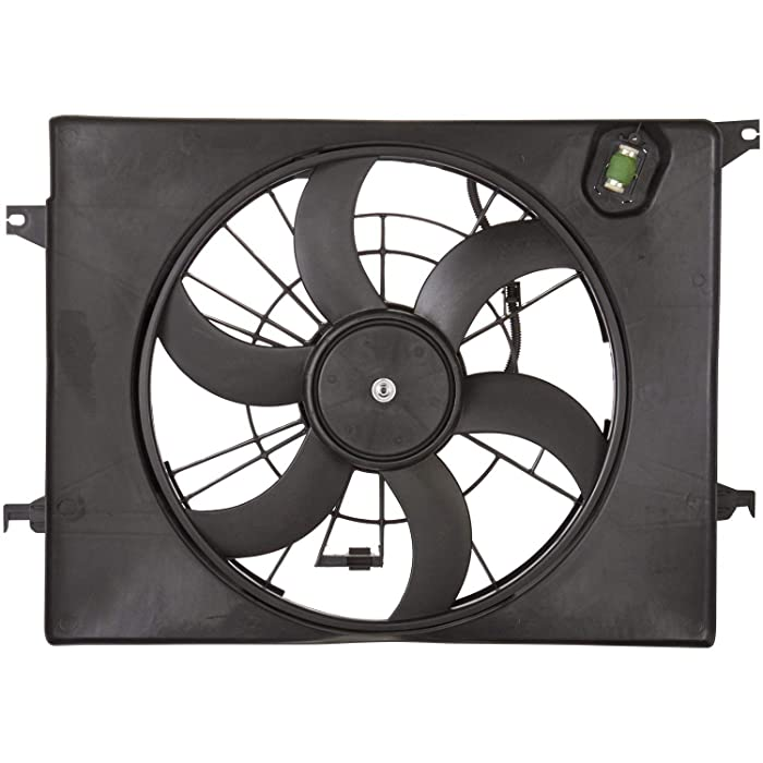 Dual Radiator and Condenser Fan Assembly - Cooling Direct Fit/For 253804R280 11-13 Kia Optima-Hybrid 11-12 Sonata-Hybrid