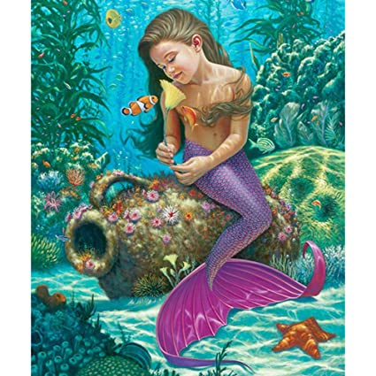 Full Drill Mermaid 5D Diamond Painting Embroidery Cross Craft Home Decor