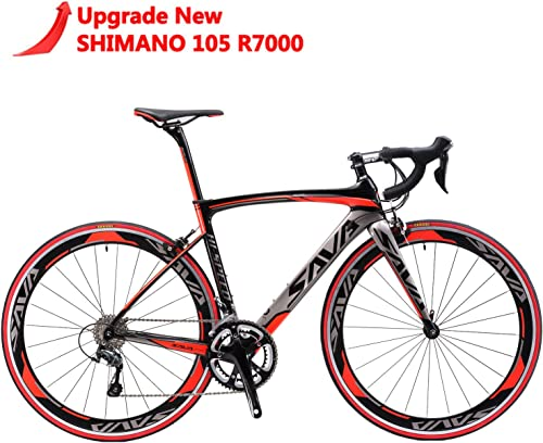 SAVADECK Carbon Road Bike, Windwar5.0 Carbon Fiber Frame 700C Racing Bicycle with 105 22 Speed Groupset Ultra-Light Bicycle