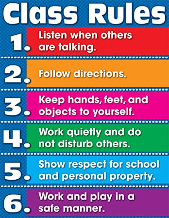 Image result for rules chart for classroom