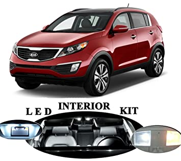 Amazon.com: LED Lights for Kia Sportage Xenon White LED Package Upgrade - Interior + License plate / Tag + Vanity / Sun Visor (10 pieces): Automotive