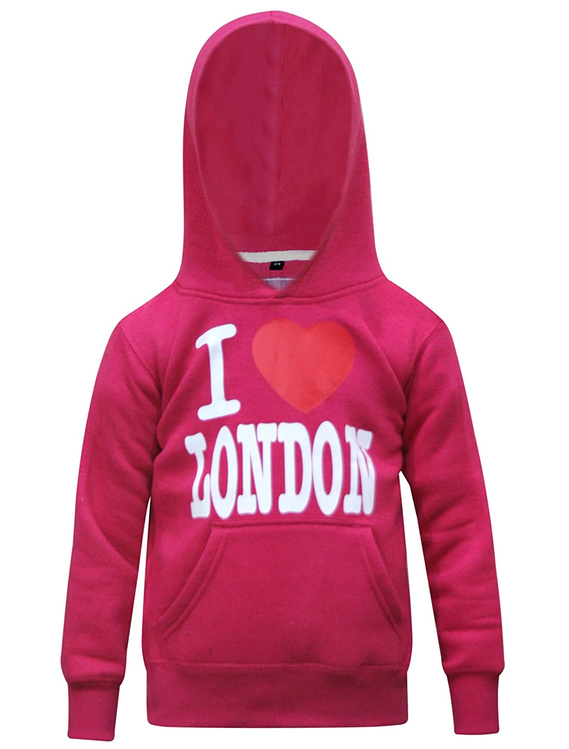 Curious Soul Printed I Love London Hot Pink Sweatshirt