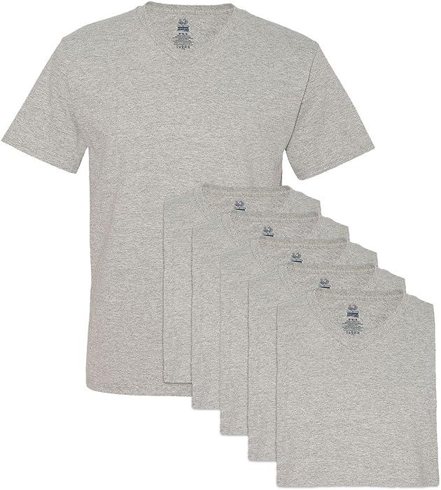 6faec06639b Fruit of the Loom Men s 6 Pack V-Neck T-Shirt