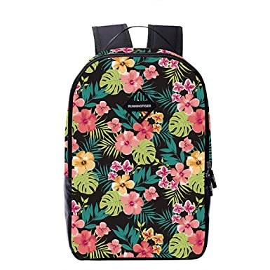Amazon.com   College Book Bag Floral Backpack Casual Daypack for ...