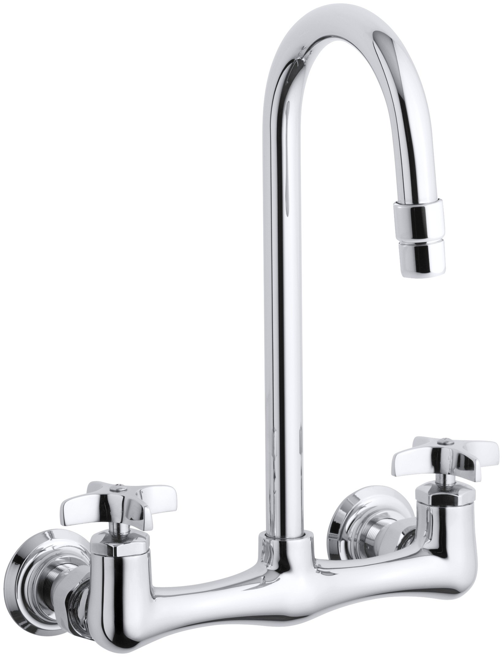 Kohler K-7320-3-CP Triton Utility Sink Faucet with Cross Handles, Polished Chrome by Kohler