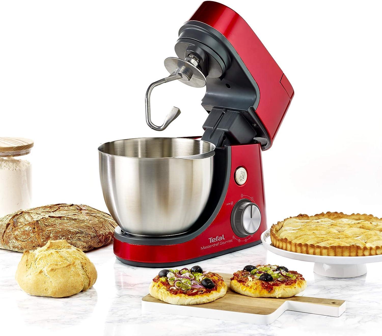 Tefal QB515G - Robot de cocina (4,6 L, Rojo, 1,5 L, Acero inoxidable, 1100 W): Amazon.es: Hogar