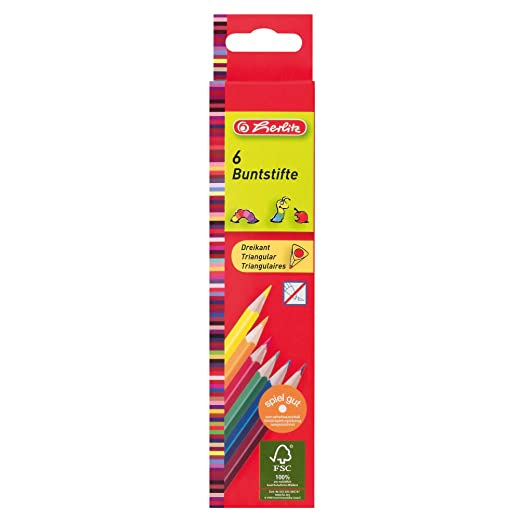 Herlitz 50013517 Dreikantbuntstifte Buntstifte inkl.Farben gold silber 36Stk