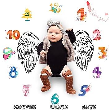 LY-LD Bebé mensual hito Creciente Manta bebés recién Nacidos Manta ...