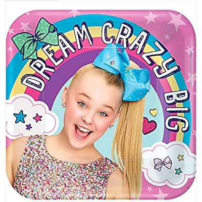 amscan Square Plates | JoJo Siwa Collection | Birthday: Toys & Games