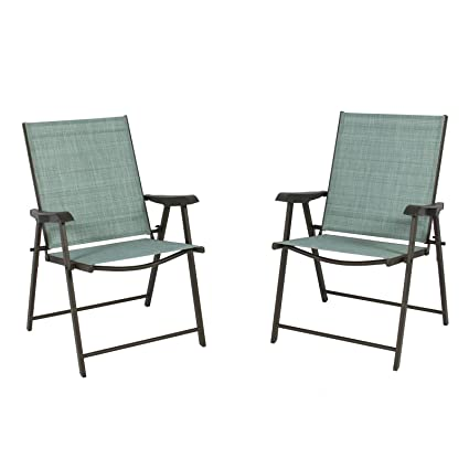 Pleasant Set Of 2 Folding Chairs Sling Bistro Set Outdoor Patio Furniture Space Saving Bralicious Painted Fabric Chair Ideas Braliciousco