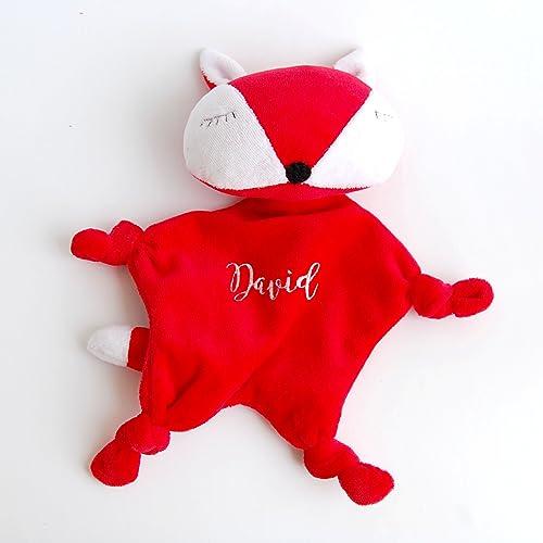 Amazon monogram baby toy blanket fox personalized baby lovies monogram baby toy blanket fox personalized baby lovies lovey negle Gallery