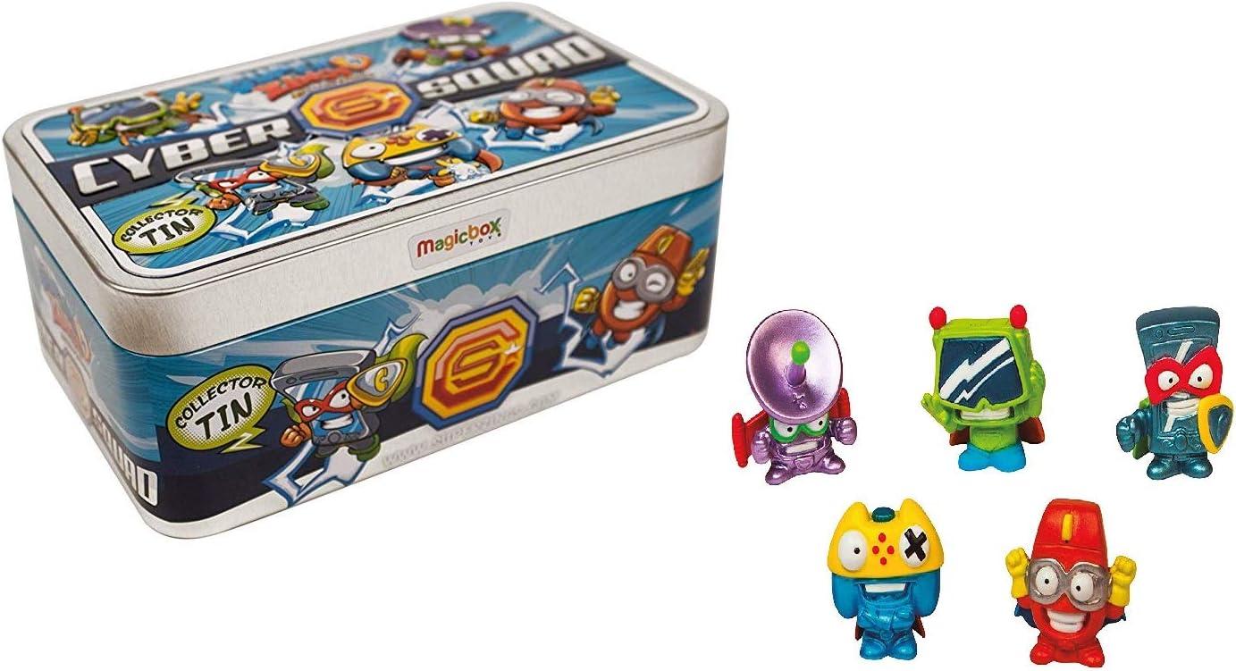 Súperzings Cyber Squad - Lata con 5 Figuras exclusivos y 6 Sobres(1 vehículos + 1 Figura): Amazon.es: Juguetes y juegos