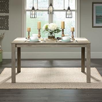 Sauder New Grange Dining Table In White Pine