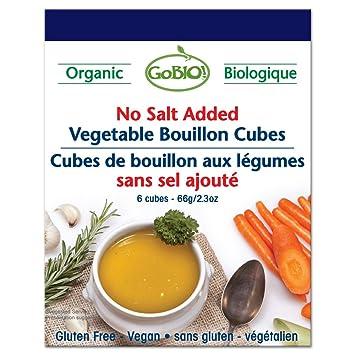 Gobio. orgánico no Sal Cubos de caldo de verduras añadido ...