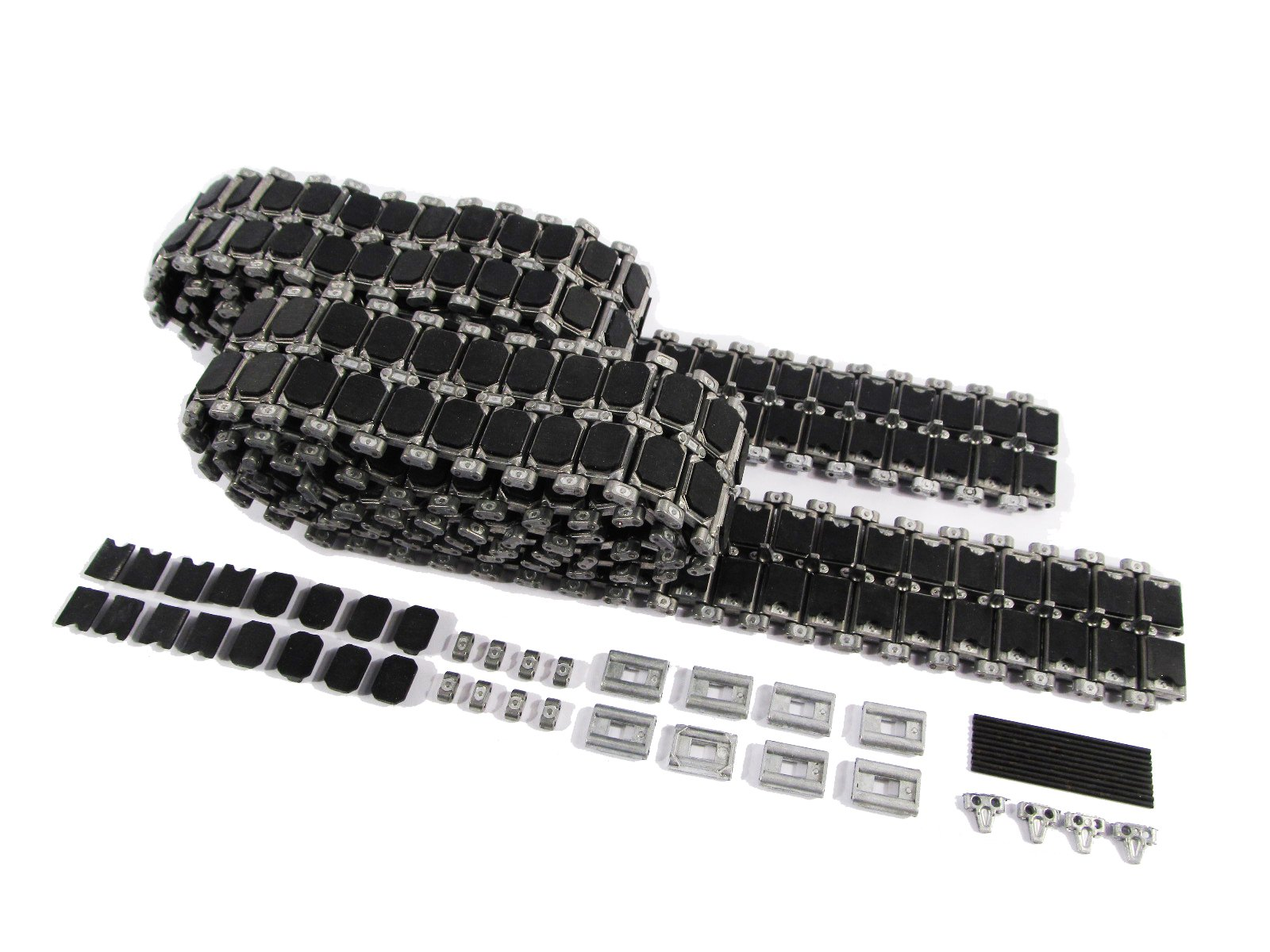 Mato Metal Tracks Set, with Rubber Metal Pads for 1/16 Heng Long 3918-1 American M1A2 Abrams RC Tank