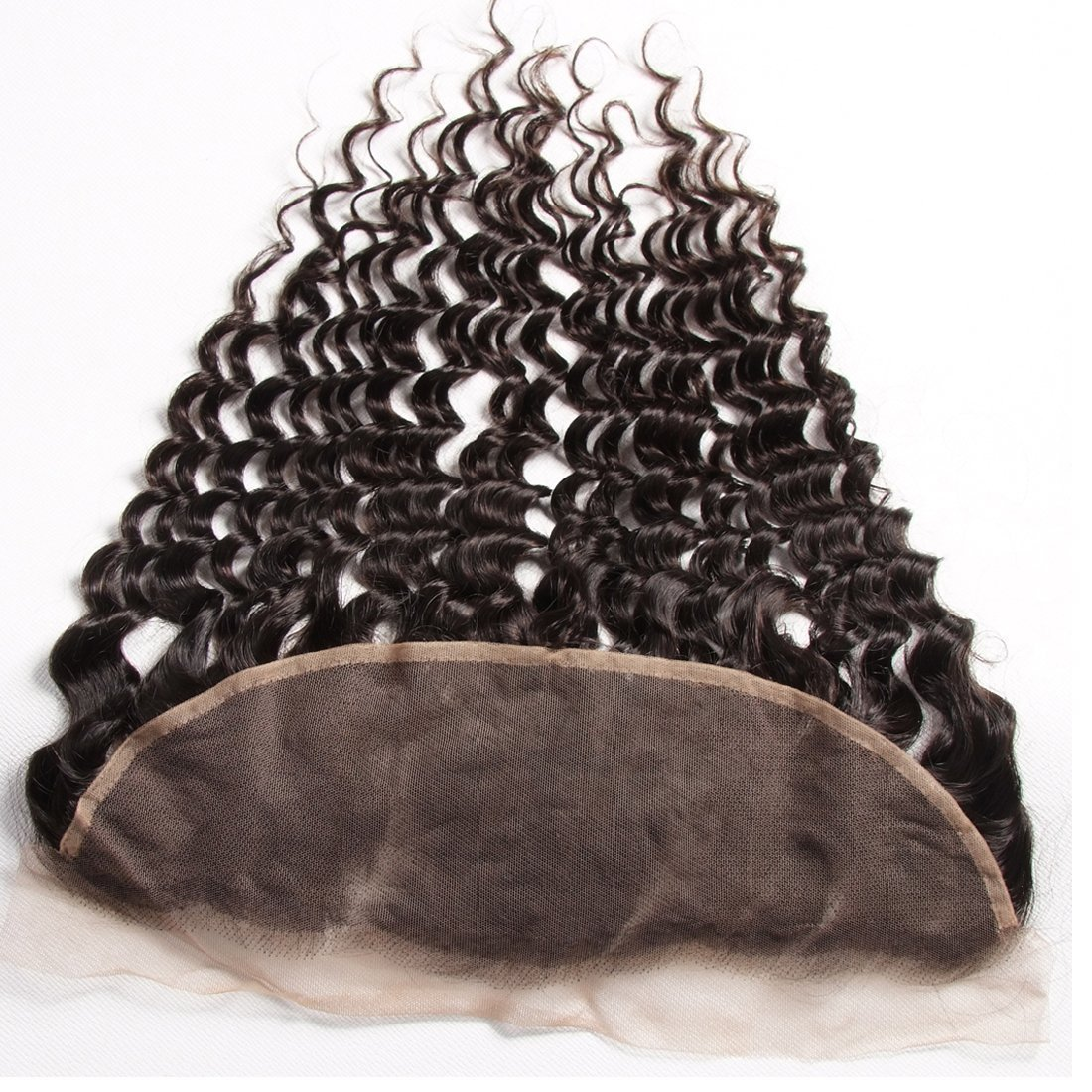 Ali Julia Hair Brazilian Virgin Deep Curly Wave Hair Bundles with Frontal Lace Closure 100% Unprocessed Human Hair Weave Extensions Natural Color (22 24 26+20 inch, Frontal with Bundles) by Yilian (Image #6)