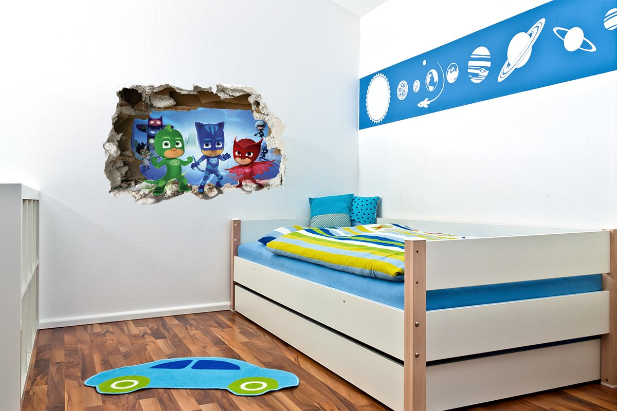 Pj Masken Zerstorten 3d Wandtattoo Jungen Madchen Schlafzimmer