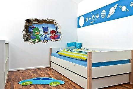 Pegatina de pared 3D para niños y niñas, diseño de máscaras: Amazon.es: Bricolaje y herramientas