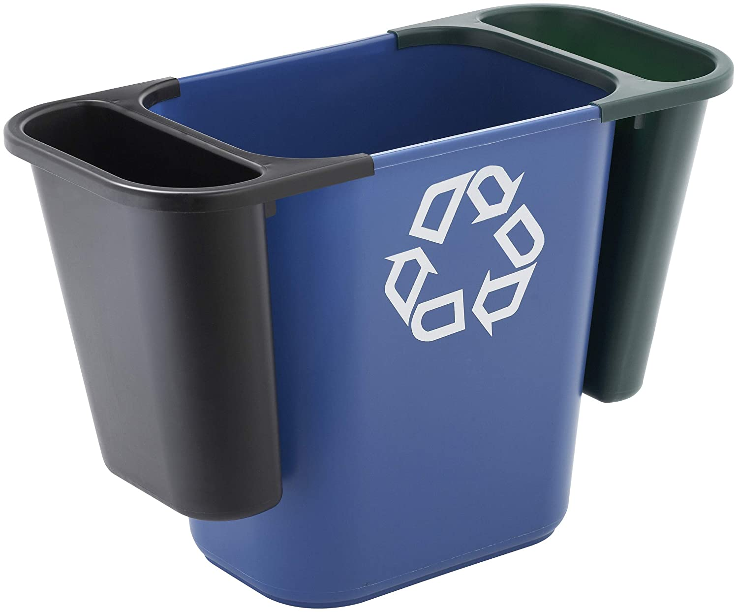 7 Gallon//28 Quart Pack of 12 Rubbermaid Commercial Products FG295673BLUE Plastic Resin Deskside Recycling Can Blue Recycling Symbol