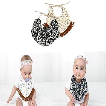 4 Pack Multi Pattern Baby Girls Boys Babies Cotton Bandana Dribble Bibs T