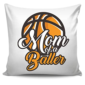 Amazon.com: DoozyGifts99 Mom Of A Baller - Cojín de béisbol ...