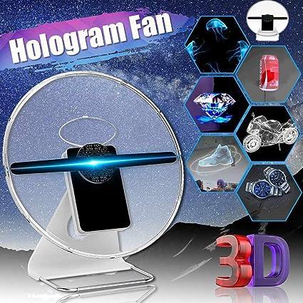 Holograma LED 3D,Pantalla De Ventilador De Escritorio De 30 Cm A ...