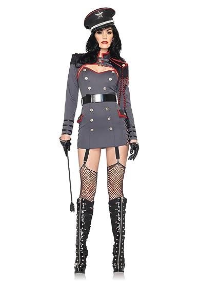 Amazon.com: Leg Avenue – Disfraz de militar 4 pieza Castigo ...