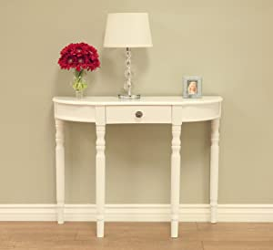 Frenchi Home Furnishing Furniture Entry Way Console Table, White