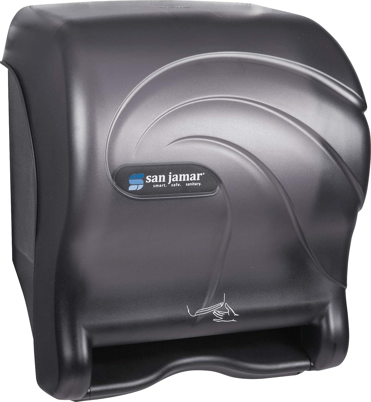 San Jamar T8490TBK Smart Essence Oceans Hands Free Paper Towel Dispenser Black Pearl