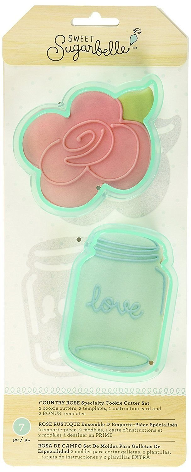 Country Rose Cookie Cutters Piece Sweet Sugarbelle