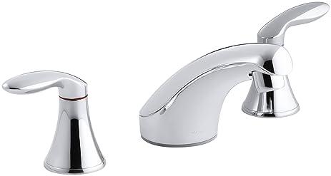 KOHLER K-15265-4-CP Coralais Widespread Lavatory Faucet, Polished ...
