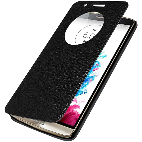 pick up c21e4 735ef Amzer Flip Case Folio Cover with Quick Circle View for LG G3 D855 - Retail  Packaging - Black