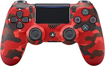 Sony - Dualshock 4 Controller Red Camouflage (PS 4): Amazon.es ...