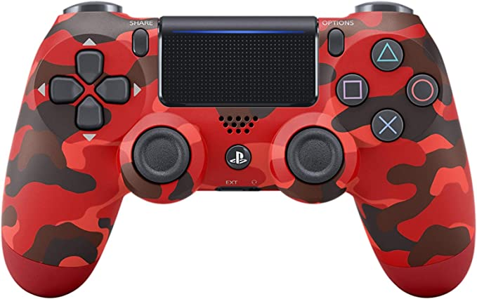 Manette PS4 Rouge camouflage