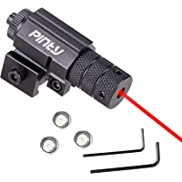 Pinty Compact Tactical Red Rail Laser Sight with Picatinny Mount Alan Wrenches for Hunting - Easy & Bright