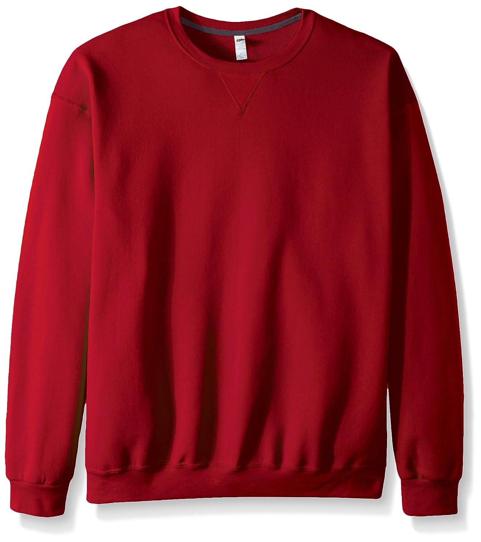 Fruit of the Loom mens Men's Fleece Crew Sweatshirt - Extra Sizes RSF72XR