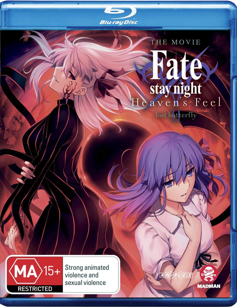 Amazon Com Fate Stay Night Heaven S Feel Ii Lost Butterfly Blu Ray Non Usa Format Region B Import Australia Movies Tv