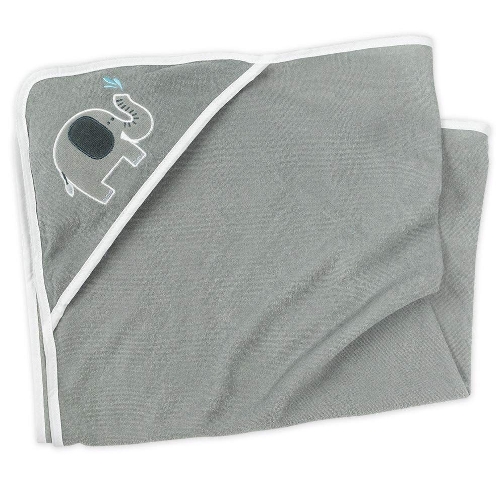 Einheitsgr/ö/ße Snuggle Baby Kapuzenhandtuch Unisex grau Baby Handtuch mit 5 Waschlappen f/ür Neugeborene /& Kleinkinder Motiv: Elefant