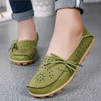 SHINIK Zapatos de mujer Verano Slip-Ons Slip-Ons Zapatos de guisantes Mocasines planos