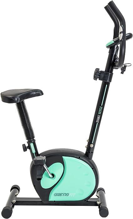 Bicicleta magnética GneticFit de Cecotec. Frenado magnético. Pulsómetro. pantalla LCD. Resistencia variable y Sillín confort: Amazon.es: Deportes y aire libre