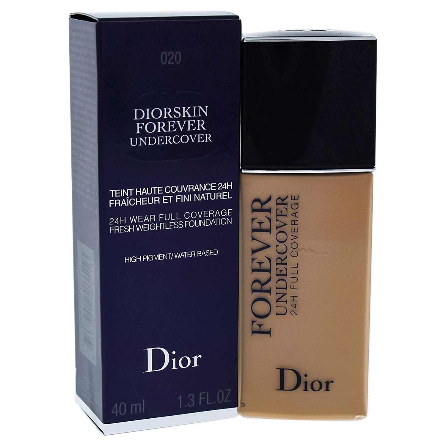 Christian Dior Diorskin Forever Undercover Foundation for Women, 020 Light Beige, 1.3 Ounce