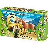 PLAYMOBIL 5517 - Fjord Pferd mit braun-gelber Pferdebox