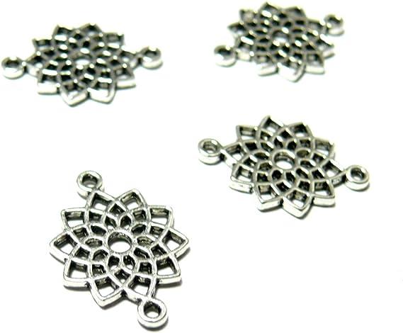 6 x Tibétain Style Antique Ton Argent Perles Apprêts Bijoux