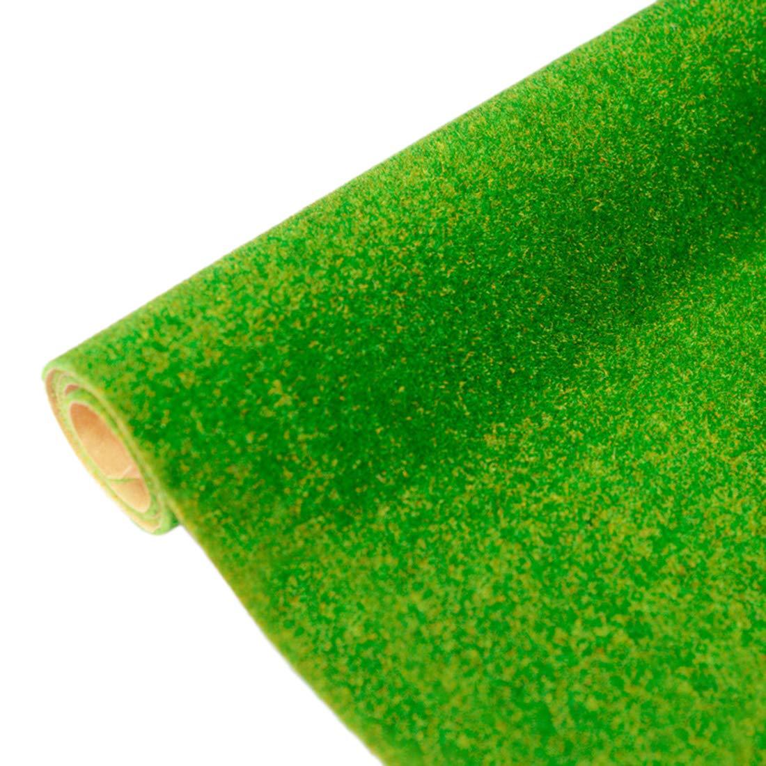 DUS Gel/ändeteppich Modellbau Grasmatte Kunstrasen Gras Rasen Miniatur Garten Deko 16.1 x 39.4 Zoll 41 x 100cm