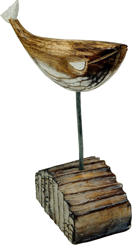 Moby Dick 1 24x20x7 cm sur Support Bois-m/étal Mod/èle 1 Marron Les Chiffres des Animaux Guru-Shop Baleine en Bois Sculpt/é