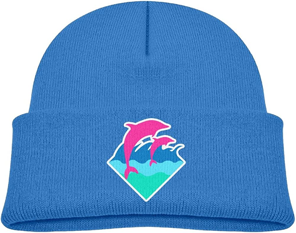 Obachi Pink Dolphin Kids Heather Beanie Black