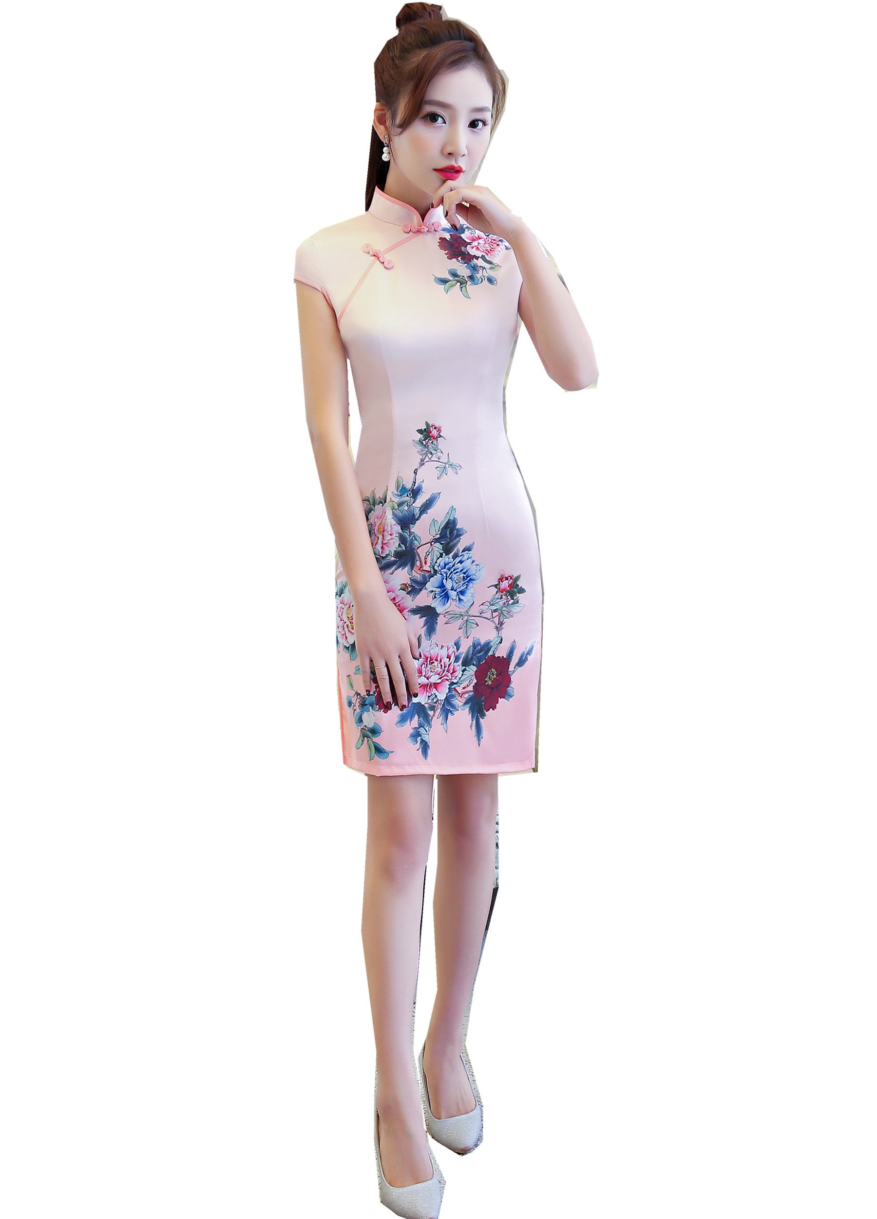 Shanghai Story Chinese Dress Short Sleeve Summer Cheongsam Qipao XL