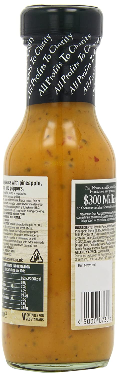 Newmans Own - Spicy Cajun Sauce - 250ml (Case of 6): Amazon.es: Alimentación y bebidas