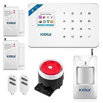 KERUI W18 WiFi alarma casa Intrusion GSM/SMS Kit Alarma ...