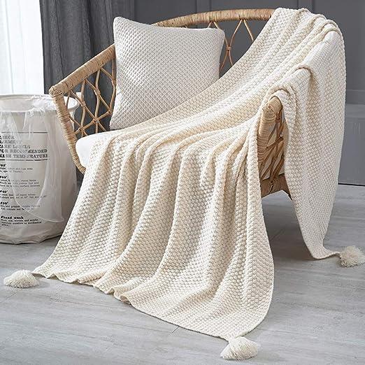 Punto Sofa Cama Manta, 100% Algodón Japonés Colcha Manta Super ...